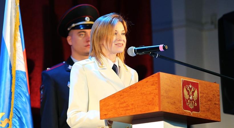 Белый китель и генеральские погоны Натальи Поклонской-1
